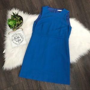 Zara Trafaluc Shift Mini Blue Sleeveless Dress S